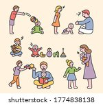brother and sister are...   Shutterstock .eps vector #1774838138