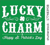 Stock vector lucky charm st patrick s day vector illustration happy saint patrick s day with clover and curl 177483938