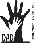 dad father son hands palm... | Shutterstock .eps vector #1774843148
