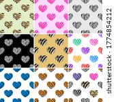 set of abstract animal print in ...   Shutterstock .eps vector #1774854212