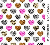 abstract animal print in heart...   Shutterstock .eps vector #1774854218