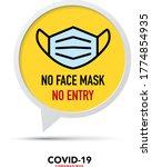 no face mask no entry sign... | Shutterstock .eps vector #1774854935