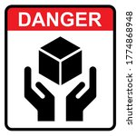 handle with care flat icon with ...