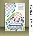 vector  business brochure or... | Shutterstock .eps vector #177488546