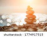 Balanced Pebbles Pyramid On The ...