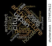 architecture word cloud.... | Shutterstock .eps vector #1774919612