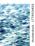 Hand Painted Sea Water Texture...