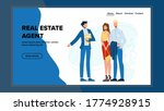 real estate agent show house... | Shutterstock .eps vector #1774928915