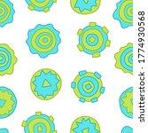 green abstract circles  ... | Shutterstock .eps vector #1774930568