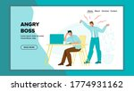 angry boss loud screaming on... | Shutterstock .eps vector #1774931162