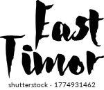 east timor country name... | Shutterstock .eps vector #1774931462