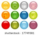 vector 12 icons with astrology... | Shutterstock .eps vector #17749381