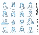doctor flat line icons.... | Shutterstock .eps vector #1774940378