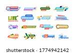 news title banner large set.... | Shutterstock .eps vector #1774942142
