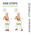 girl side or lateral walk with... | Shutterstock .eps vector #1774962215