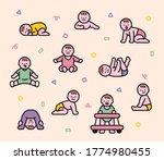 newborn baby character in...   Shutterstock .eps vector #1774980455