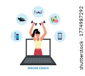 online coach banner   female... | Shutterstock .eps vector #1774987292