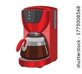 coffee machine vector cartoon... | Shutterstock .eps vector #1775008568
