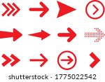 arrows big red set icons. arrow ... | Shutterstock .eps vector #1775022542
