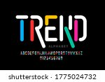 modern style font  trendy... | Shutterstock .eps vector #1775024732