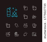 clothes icons set. delicate and ...