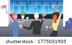 businesspeople with usa flags...   Shutterstock .eps vector #1775031905