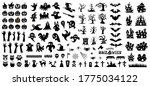 set of silhouettes of halloween ... | Shutterstock .eps vector #1775034122