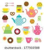 vector illustration of tea... | Shutterstock .eps vector #177503588