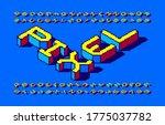 pixel isometric alphabet font.... | Shutterstock .eps vector #1775037782