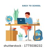 back to school during pandemic... | Shutterstock .eps vector #1775038232
