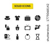 activity icons set with ball ...