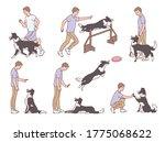 set of dog training or... | Shutterstock .eps vector #1775068622