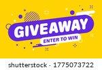 giveaway banner. post template. ... | Shutterstock .eps vector #1775073722
