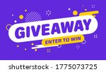 giveaway banner. post template. ... | Shutterstock .eps vector #1775073725