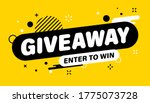 giveaway banner. post template. ... | Shutterstock .eps vector #1775073728