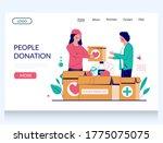 people donation vector website... | Shutterstock .eps vector #1775075075