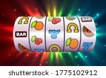 slot machine wins the jackpot.... | Shutterstock .eps vector #1775102912