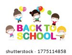 back to school for new normal... | Shutterstock .eps vector #1775114858