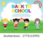 back to school for new normal... | Shutterstock .eps vector #1775115992