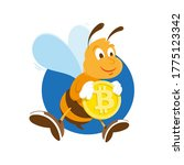 cryptocurrency concept cartoon...   Shutterstock . vector #1775123342