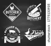 set of butcher shop badge or...   Shutterstock .eps vector #1775133935