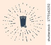 black trash can icon isolated... | Shutterstock .eps vector #1775162252