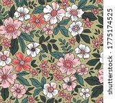 vintage floral background.... | Shutterstock .eps vector #1775174525