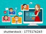 e learning online education... | Shutterstock .eps vector #1775176265