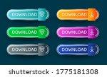download button template. set...   Shutterstock .eps vector #1775181308