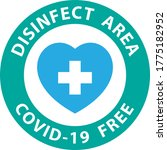 round symbol for disinfected... | Shutterstock .eps vector #1775182952