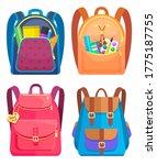 colored school backpack.... | Shutterstock .eps vector #1775187755