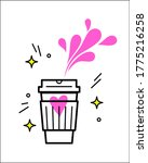 coffee paper cup creative icon... | Shutterstock .eps vector #1775216258