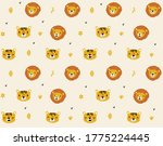 seamless pattern with lions and ... | Shutterstock .eps vector #1775224445