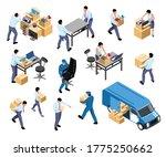 office relocation isometric set ...   Shutterstock .eps vector #1775250662